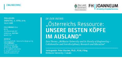einladung zum vortrag von prof. peter mascher, mcmaster universit, Einladung